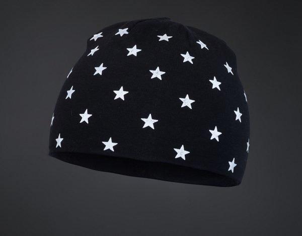 Dětská čepice STARS Black