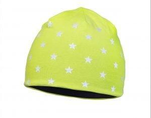 Dětská zimní čepice STARS Yellow